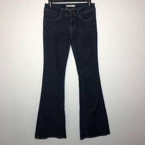 Bullhead Black Flare Dark Wash Jeans Size 5